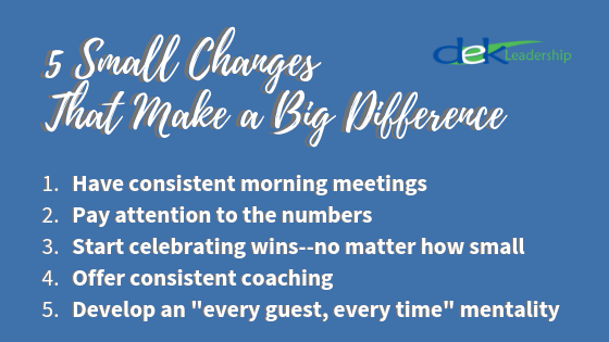 5 Small Changes That Make A Big Difference | DEK Leadership