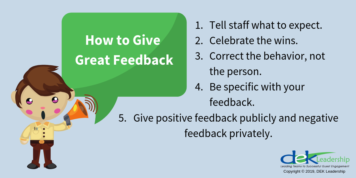 How to Give Great Feedback | DEK Leadership